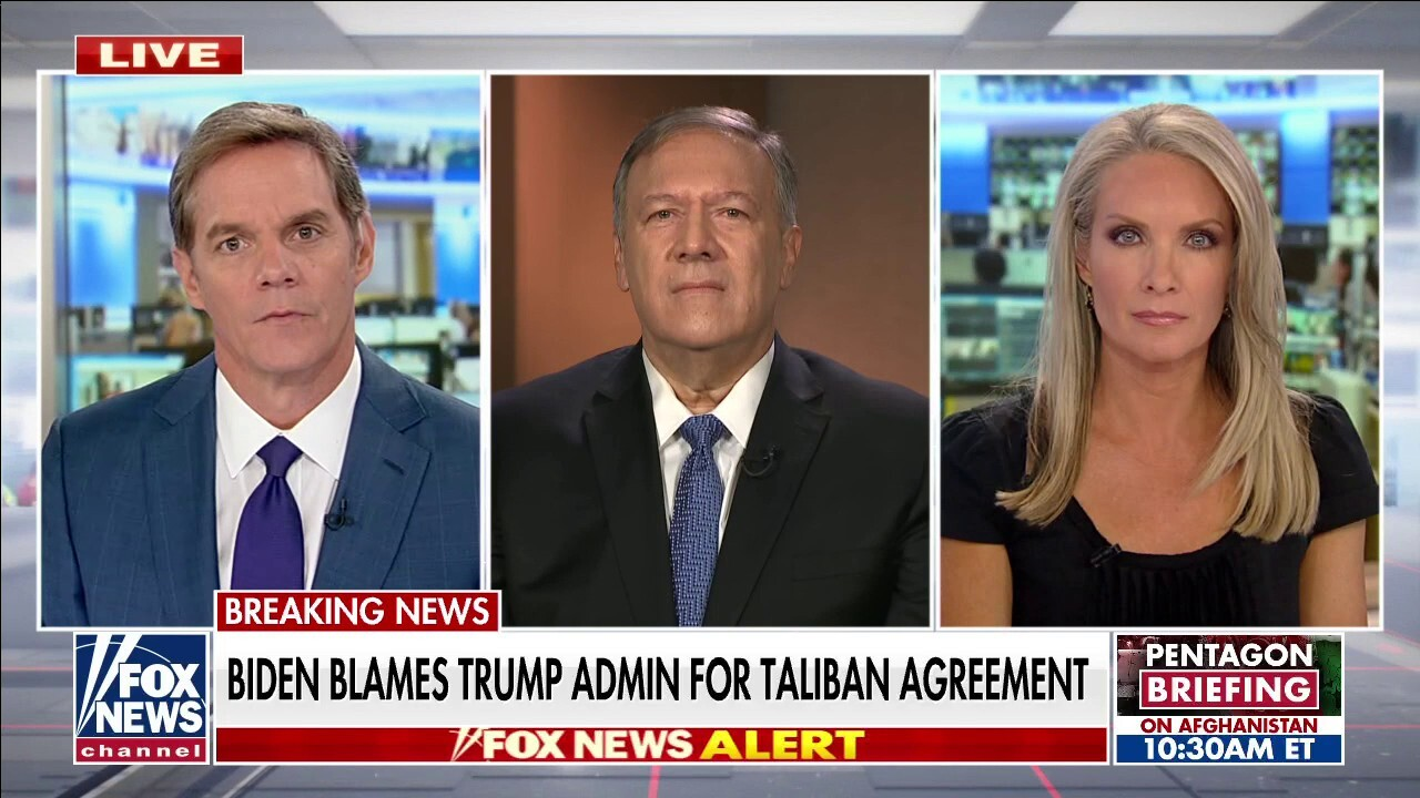 Pompeo pushes back on Biden blaming Trump admin for Afghanistan withdrawal