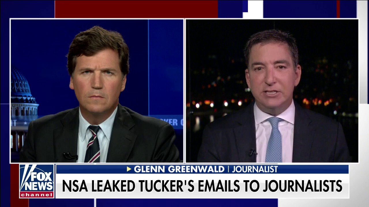 Greenwald reacts to report NSA identified Tucker Carlson via communications about Putin interview pitch
