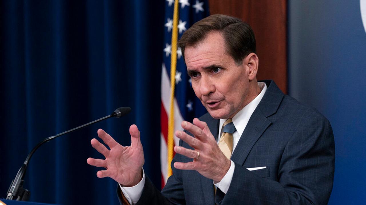 Pentagon press secretary John Kirby, Maj. Gen. William Taylor hold a briefing on Afghanistan