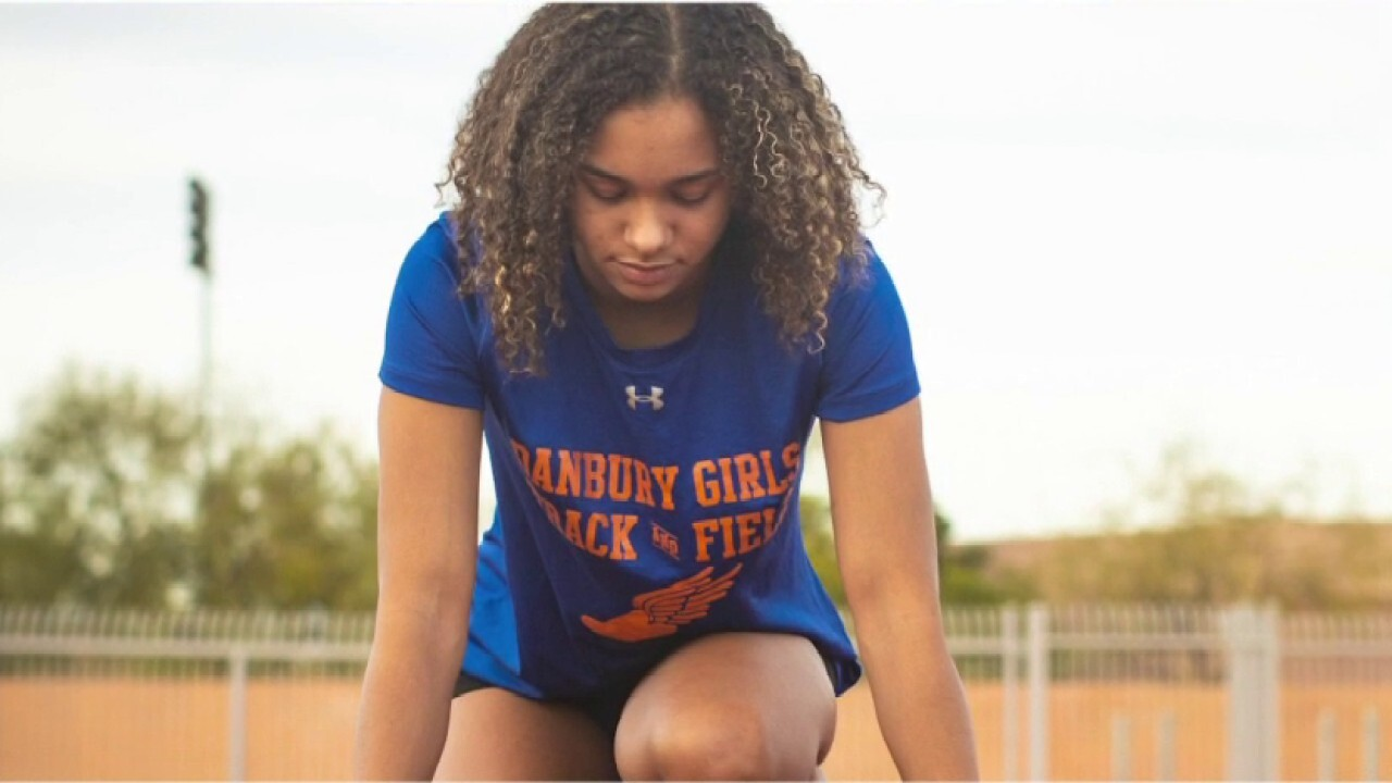 Track star sues to stop transgender athletes competing in girls sports