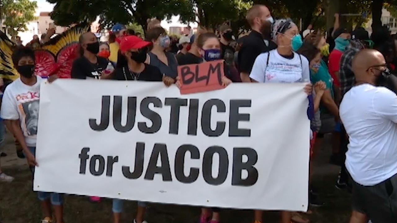 Demonstrators demanding racial justice take to Kenosha streets