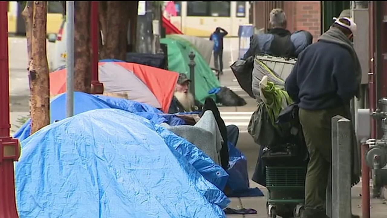 Homeless camps block business reopenings amid coronavirus pandemic