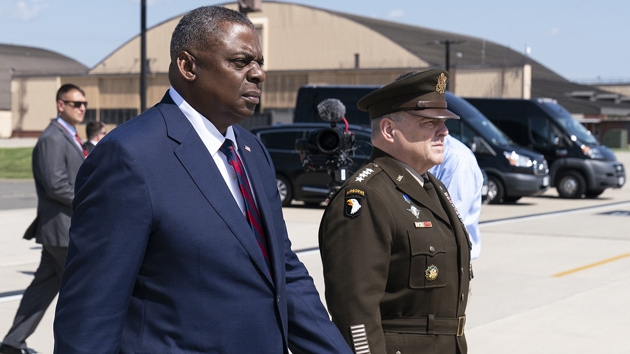 Defense Secretary Austin, Joint Chiefs Chair Milley hold press conference from Pentagon