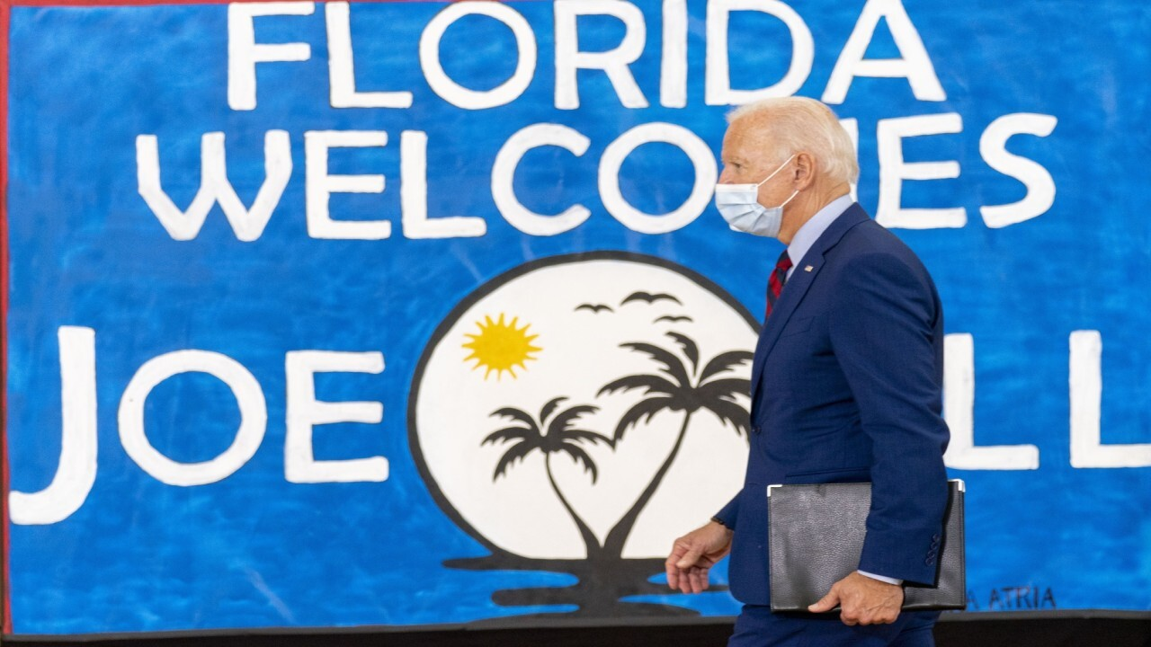 Biden pulls further ahead in polls as he campaigns in Florida