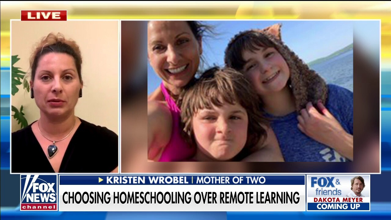 Kristen Wrobel says that remote learning was a 'nightmare' for her two children and quickly became an advocate for homeschooling children during the pandemic