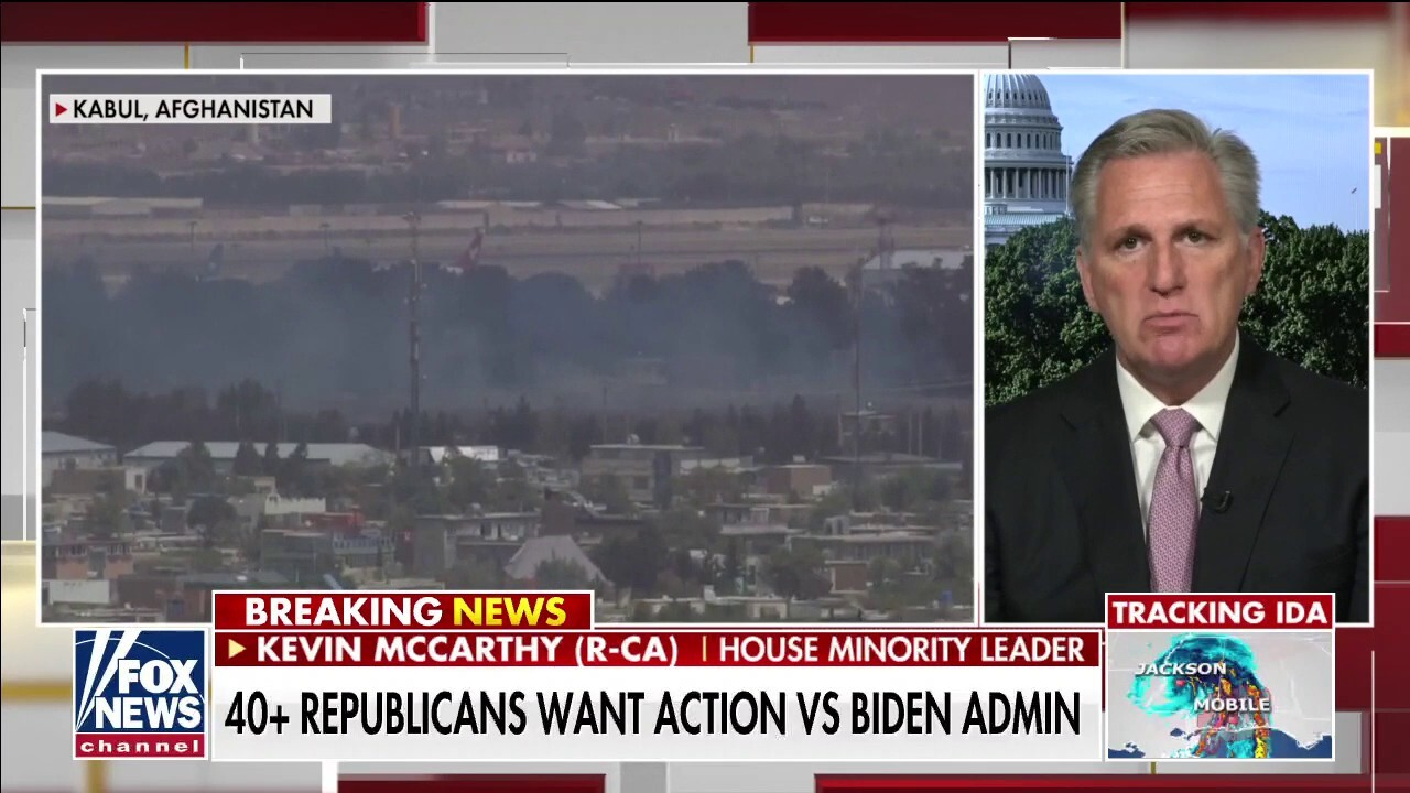 Kevin McCarthy: Pelosi standing with Biden on 'disgusting' policy, says Afghanistan will become like Syria