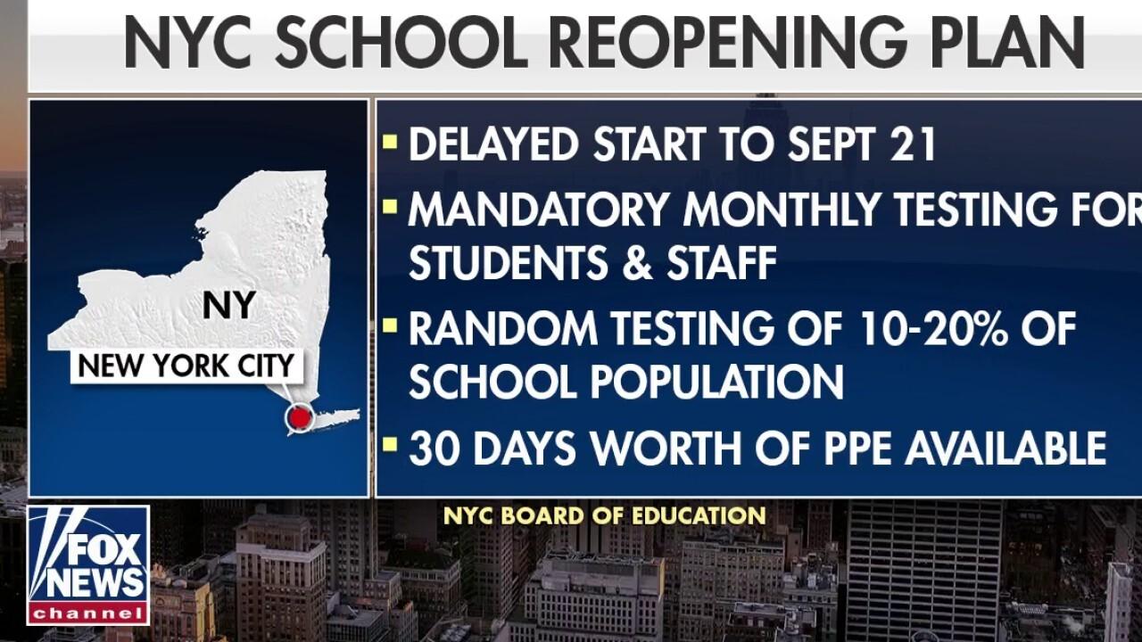New York City delays reopening public schools