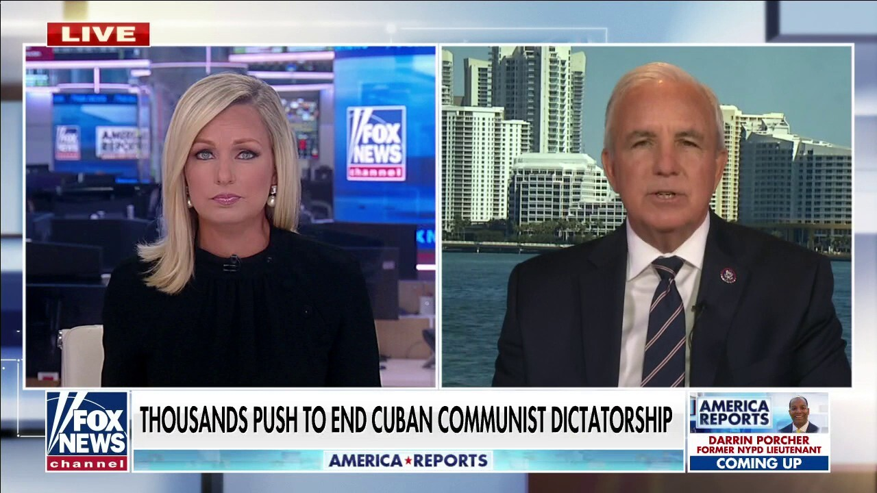 Cubans protesting communism with American flag because it's symbol of freedom: Rep. Gimenez