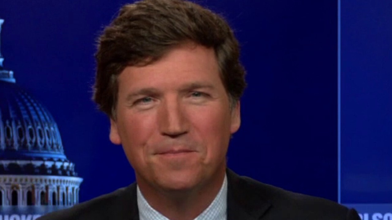 Tucker reacts to Biden's claim he's driven an 18-wheeler