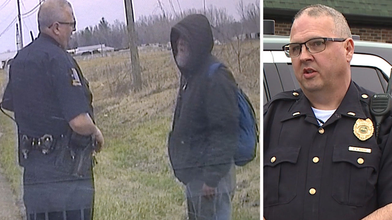 Police officer's act of kindness caught on camera
