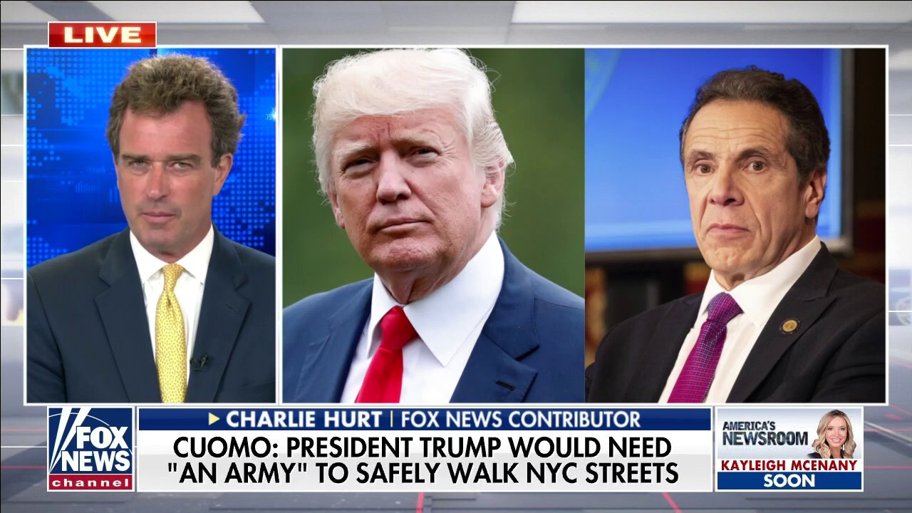 Charlie Hurts reacts to Cuomo saying Trump needs 'army' to walk in NYC