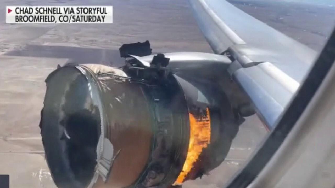 Officials investigating United plane engine failure