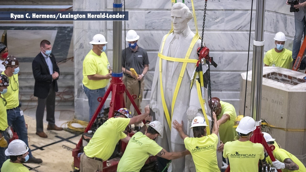 Confederate statues removed in Virginia, Kentucky following George Floyd's death