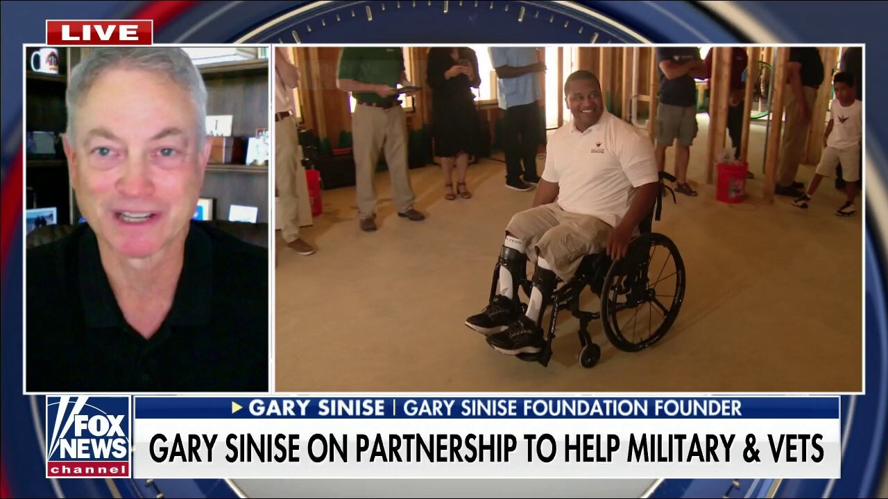 Actor Gary Sinise on partnership to help military, veterans