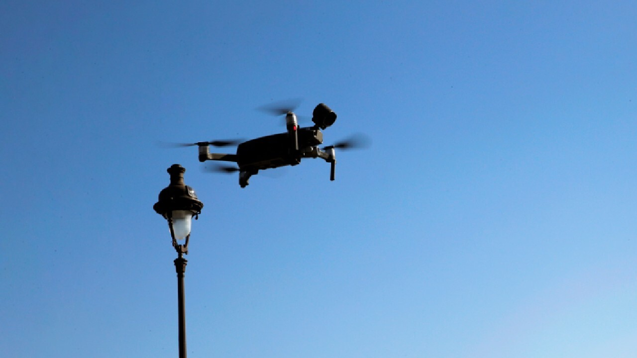 Police using drones to keep watch while social distancing
