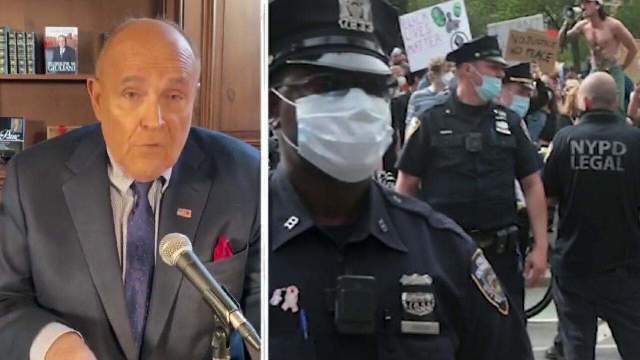 Rudy Giuliani: 'Defund police' terrible reaction to police wrongdoing