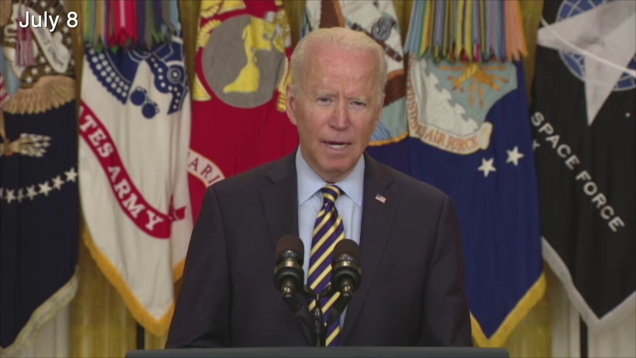 President takes new tone on Afghanistan compared to earlier in career