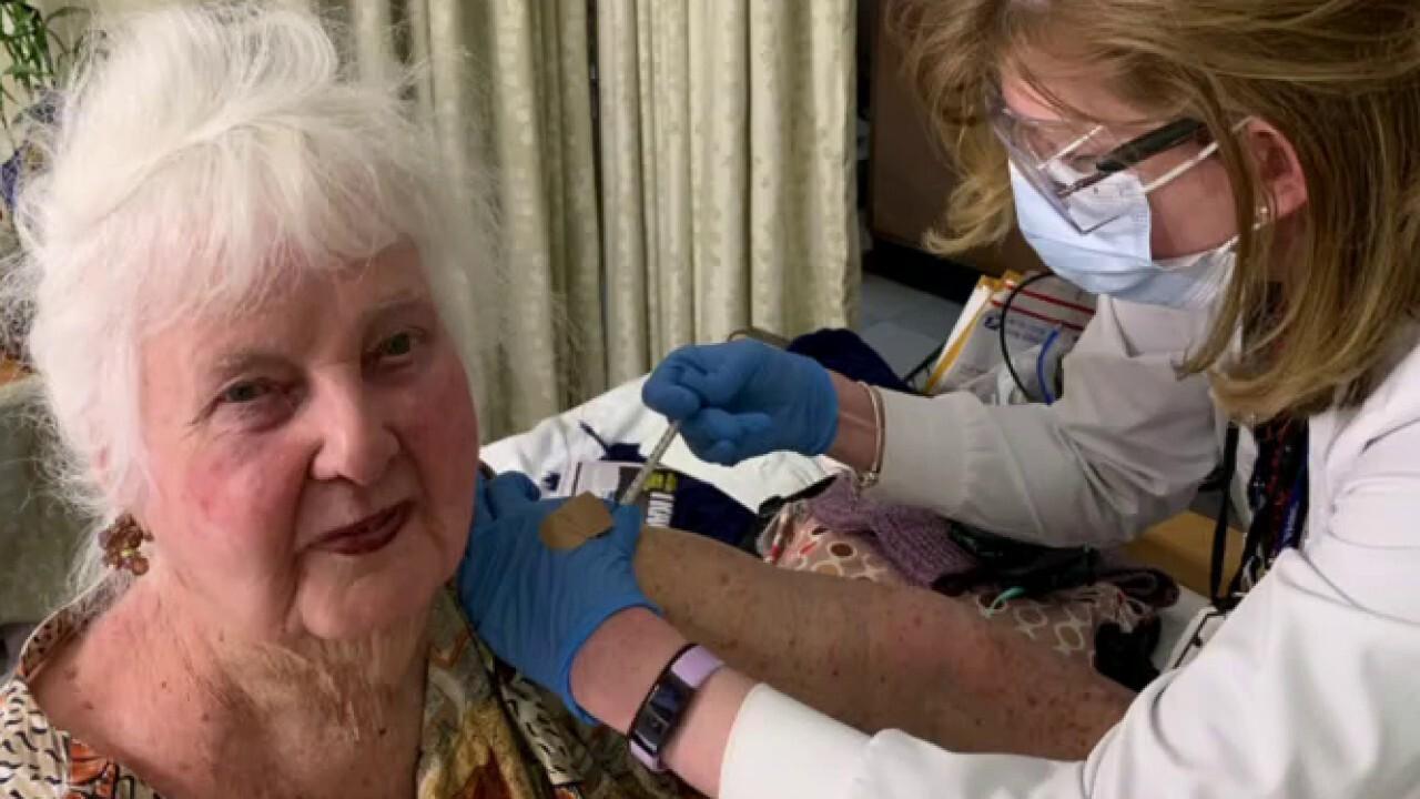 World War II veteran, 96, receives second COVID vaccine dose