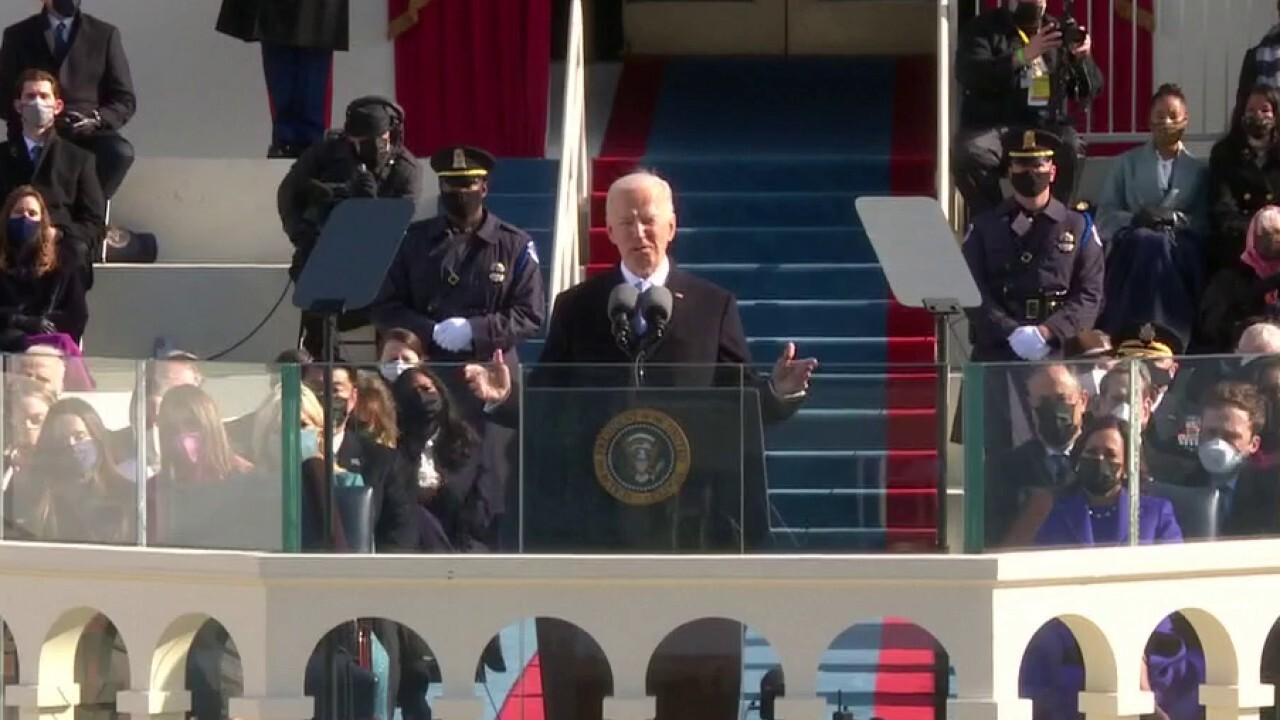 Biden's inaugural address puts focus on uniting Americans