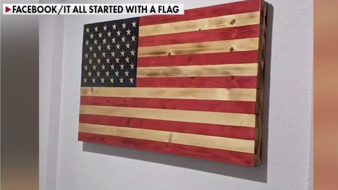 Laid-off Disney worker creates wooden American flags in garage
