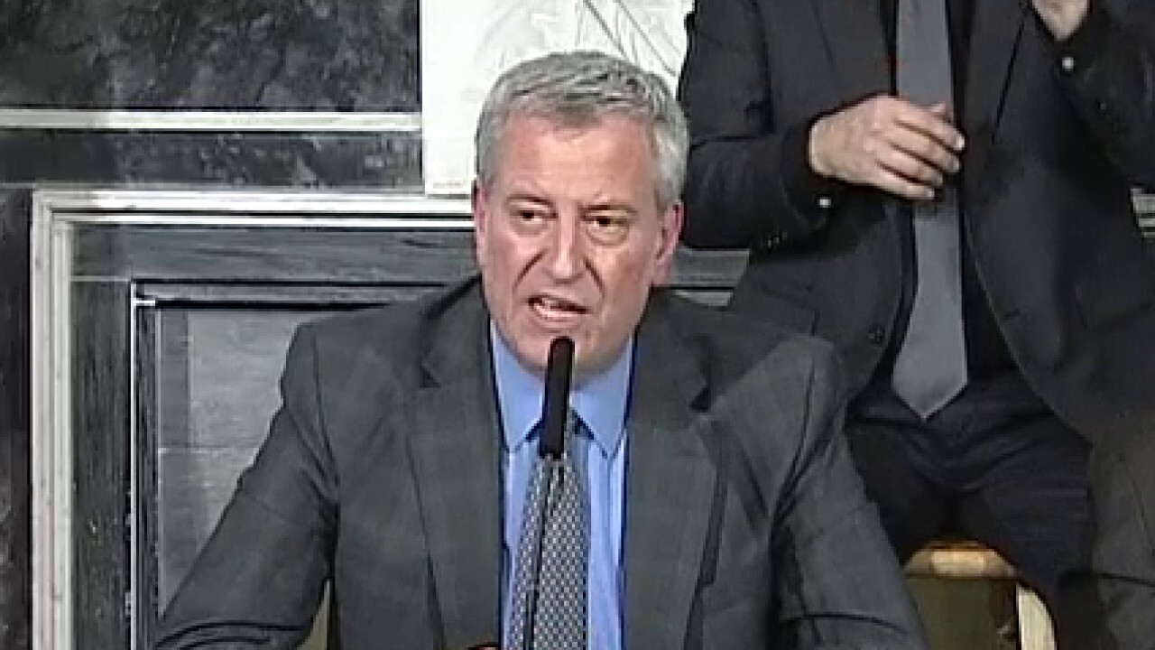 Bill de Blasio declares state of emergency in New York City