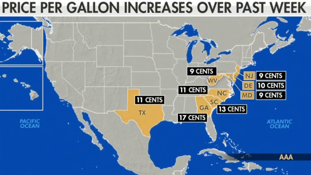 Gas prices surge to the highest in seven years