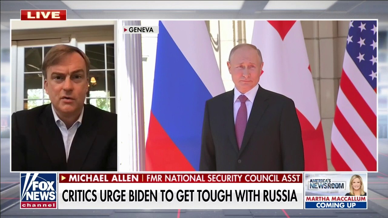 Biden letting Putin be viewed as America's 'equal' on world stage: Michael Allen