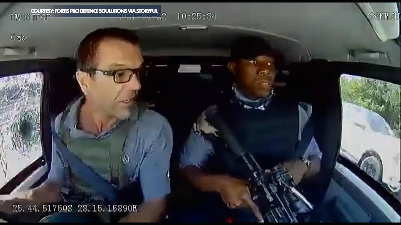 Armored vehicle shot at during attempted heist in South Africa