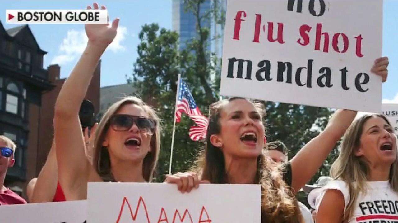 Anti-vaxxers to sue Massachusetts governor over flu shot mandate