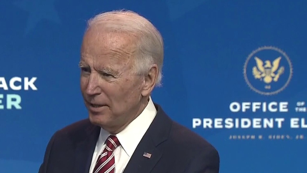 Joe Biden takes questions from reporters after remarks in Delaware