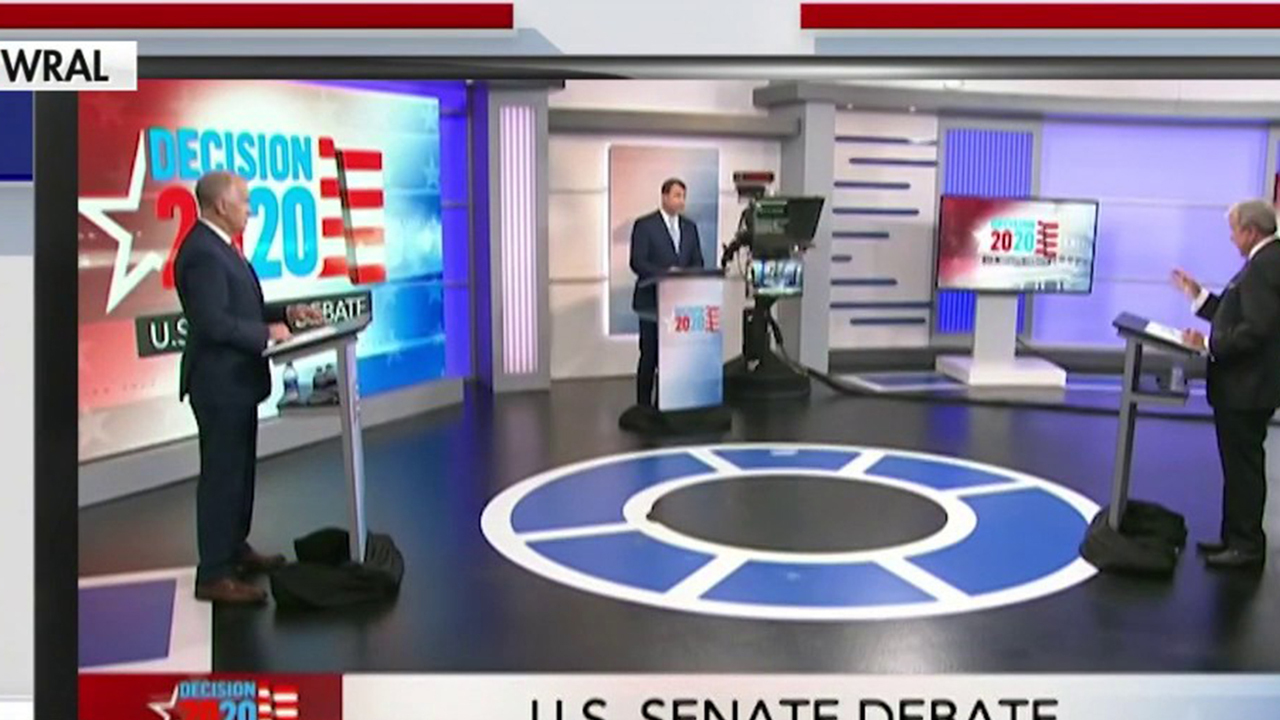 Tillis and Cunningham spar in first NC senate debate