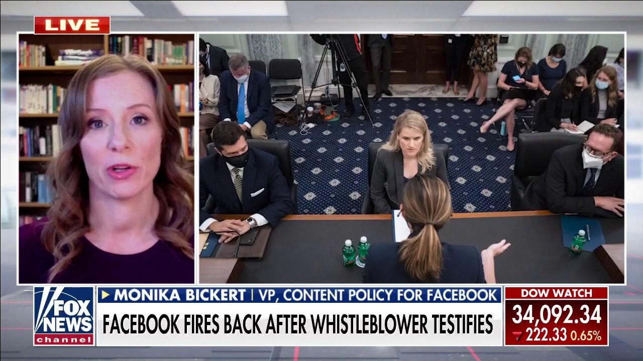 Facebook content policy VP slams whistleblower: 'She's not an expert'