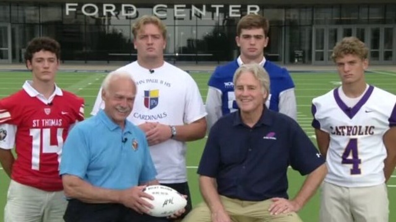 Four Texas high school football teams pay tribute to those lost on 9/11 in special tournament