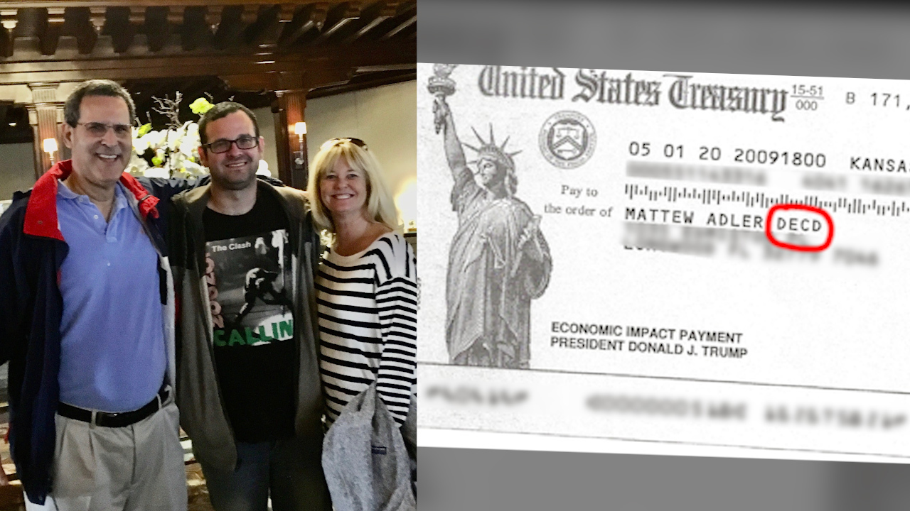 Marshall Adler tragically lost his son, Matthew, on July 22, 2018, and on May 2, 2020, he received a $1,200 federal stimulus payment for his deceased son. A look at where Adler wants his son's money to go and why.