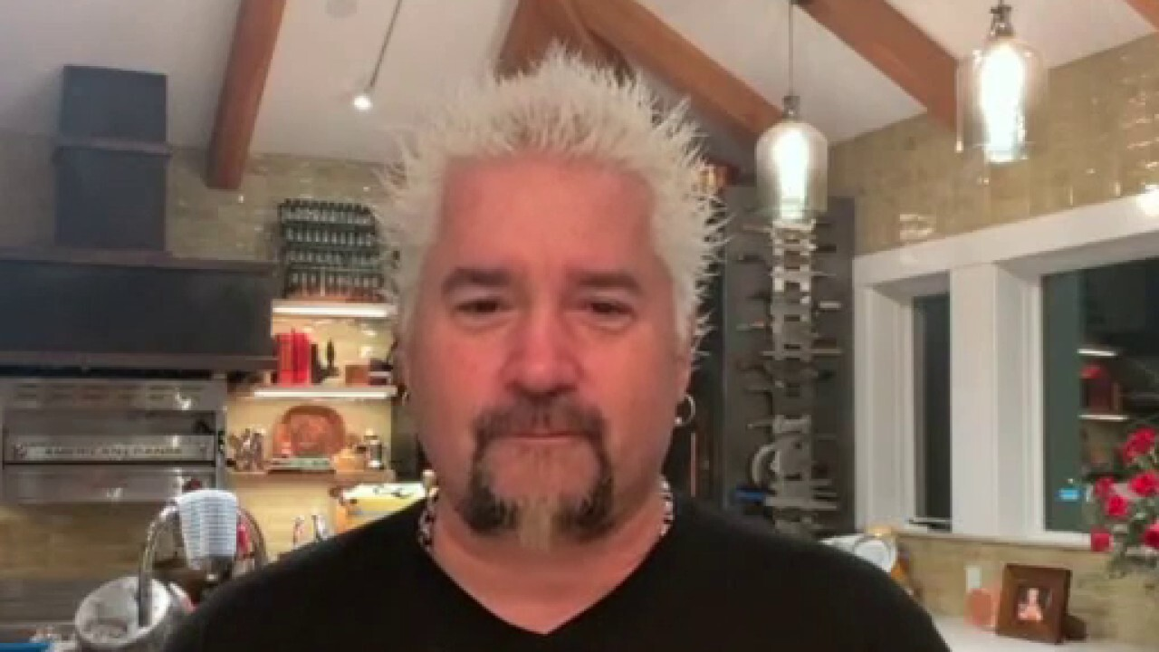 Food Network star Guy Fieri explains why he decided to join Barstool's 'genius idea' to help struggling small businesses amid the coronavirus pandemic.