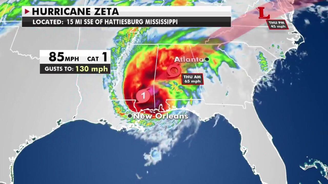 Fox Extreme Weather Center: Tracking Zeta