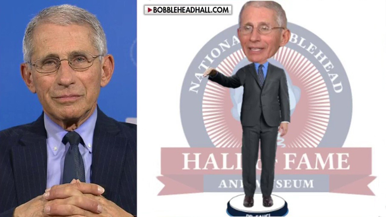 Dr. Anthony Fauci is asked on 'Fox & Friends' about the creation of a Fauci bobblehead doll to help raise money for COVID-19 medical supplies.