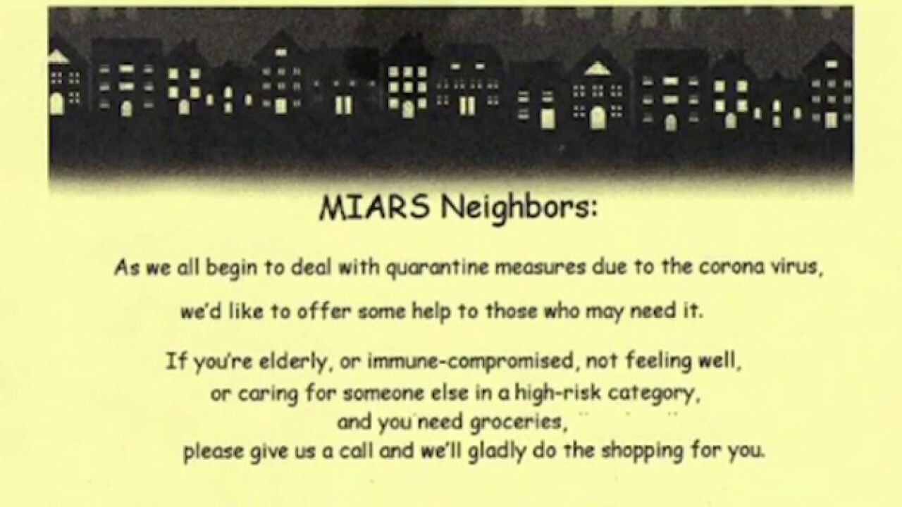 Woman offers to shop for at-risk neighbors amid COVID-19 crisis; kids play cellos for self-isolating senior