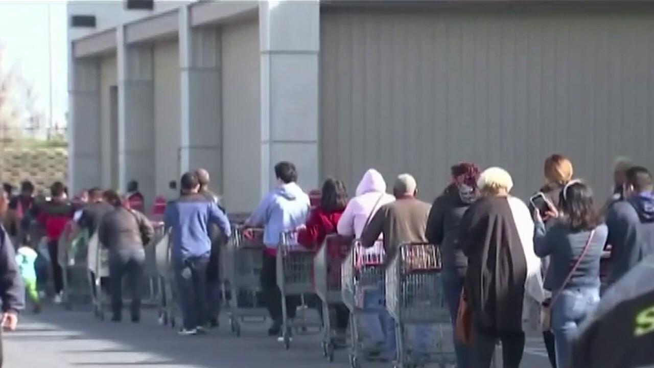 Coronavirus fears put heavy strain on grocery stores