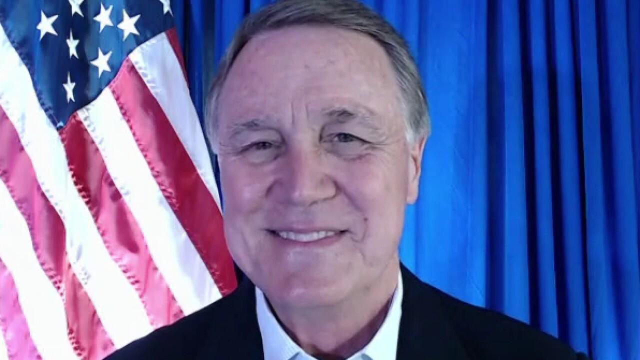 Sen. Perdue speaks to Fox News from quarantine