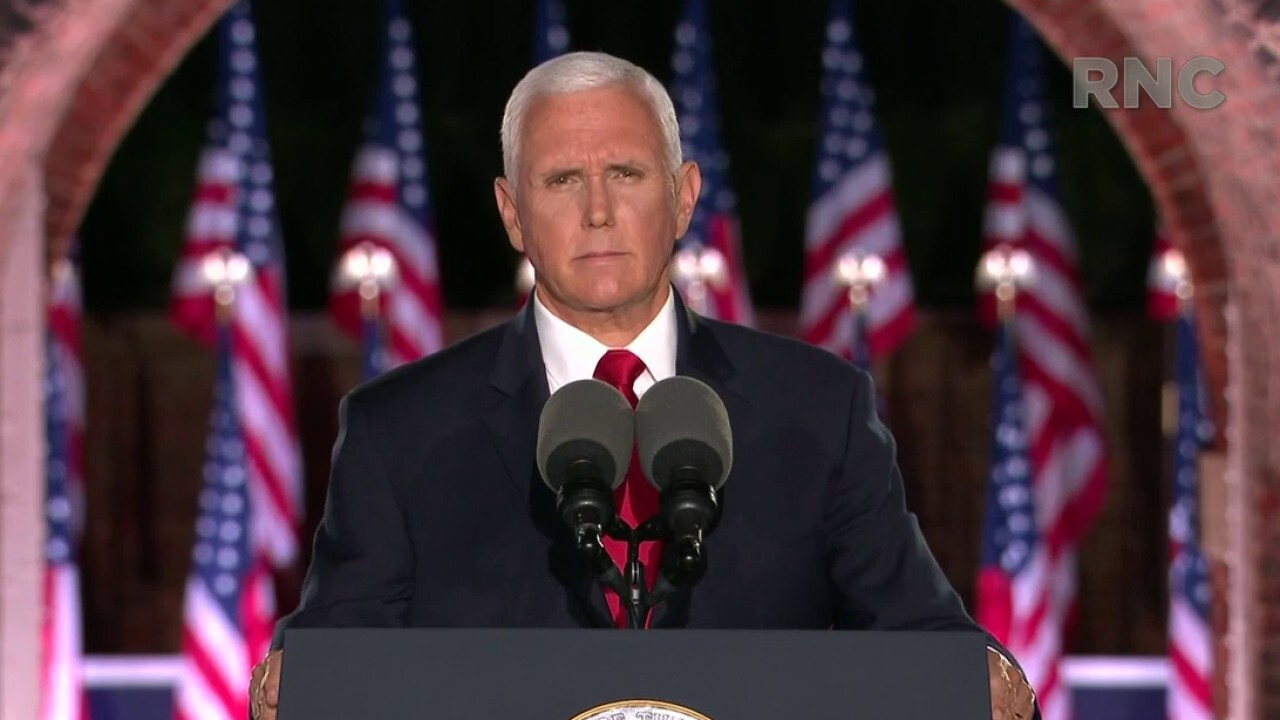 Vice President Mike Pence delivers remarks at Ft. McHenry at night three of the 2020 Republican National Convention.