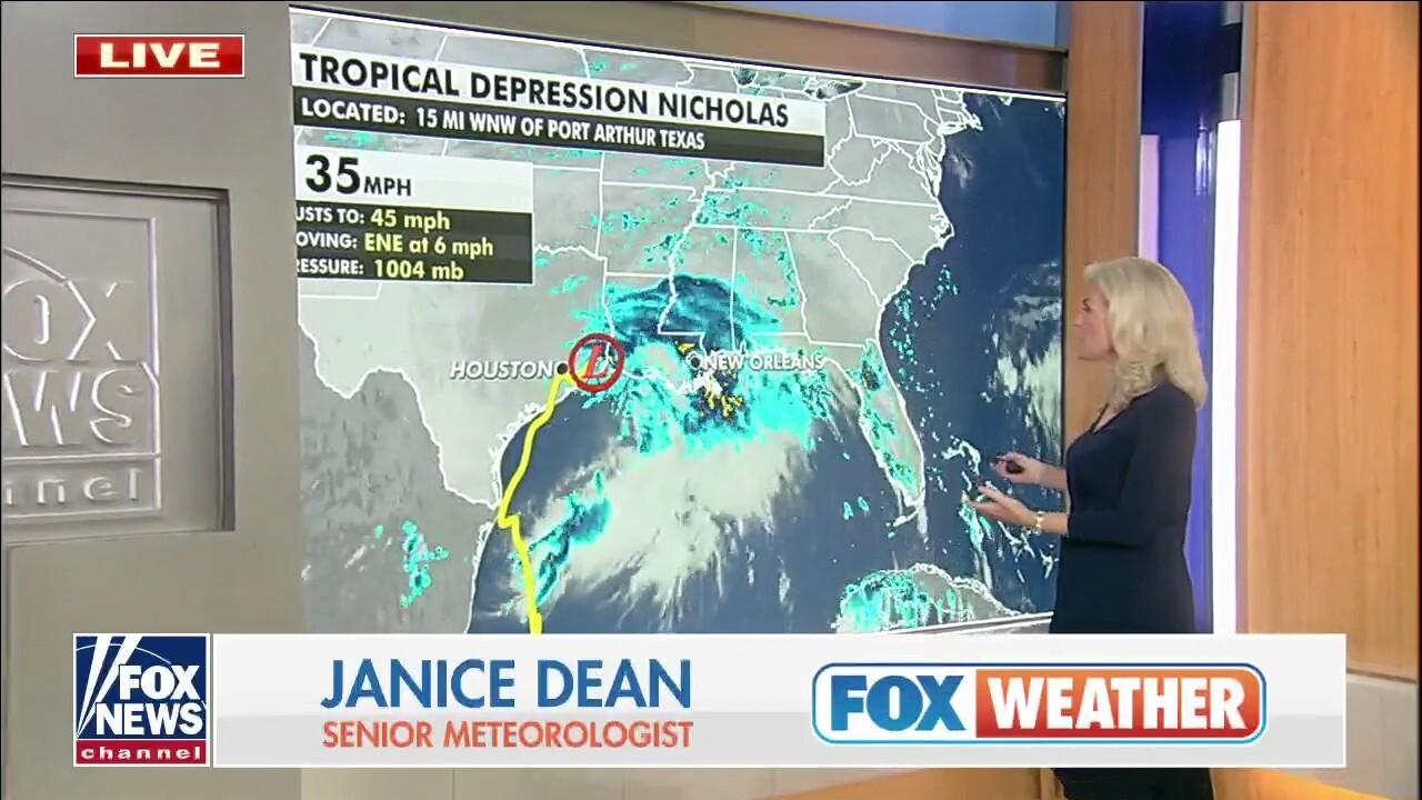 Tropical Depression Nicholas slows to a crawl over Louisiana