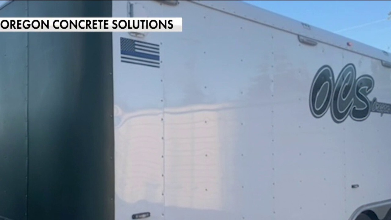 Portland business targeted by rioters for pro-police decals on trucks