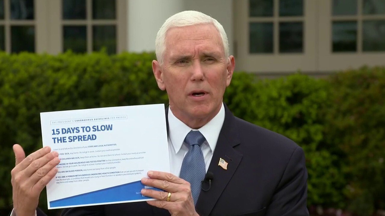 VP Mike Pence offers the 'right prescription' to slow spread of coronavirus