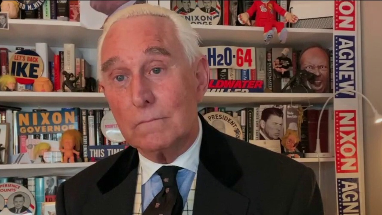 Roger Stone reacts to being pardoned by President Trump