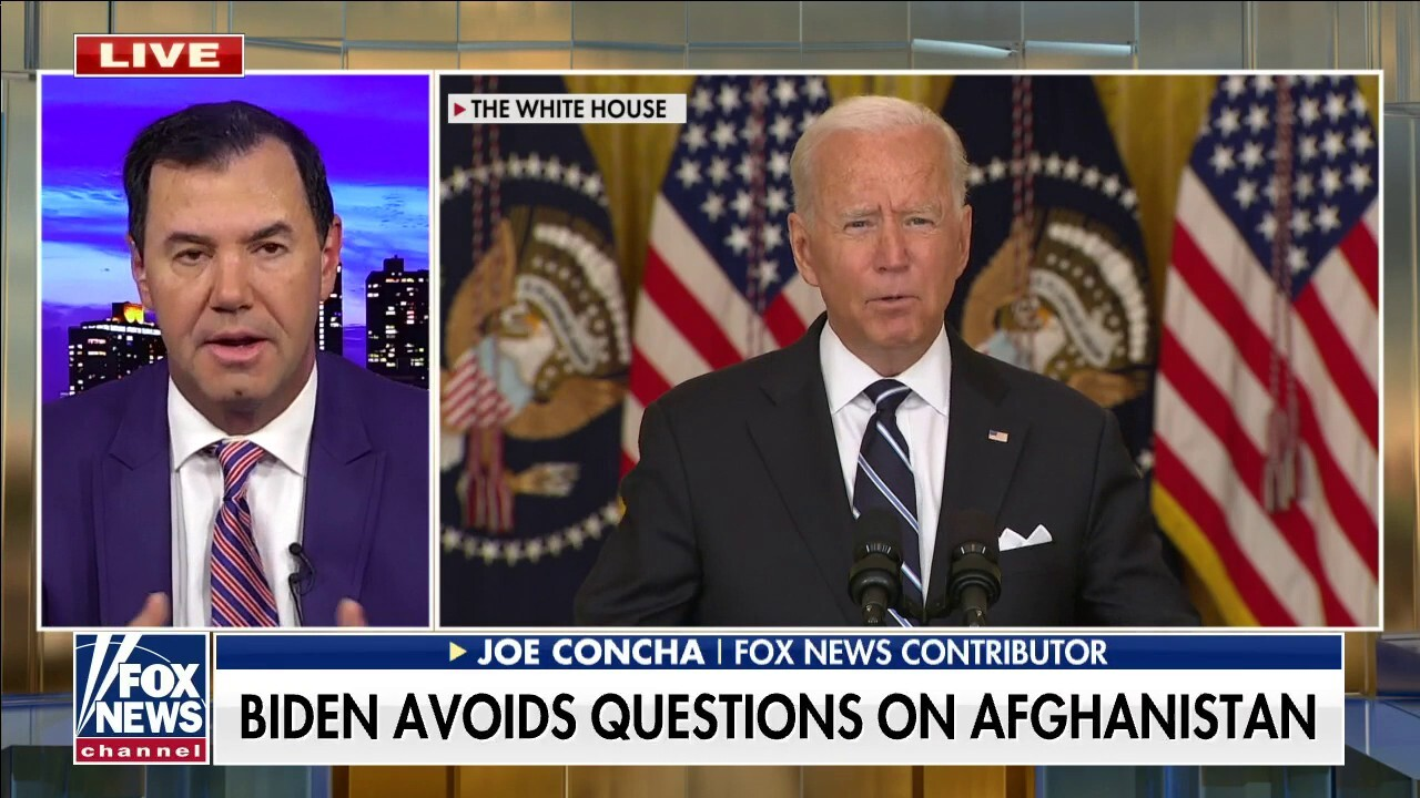 Concha blasts Biden for being silent on Afghanistan
