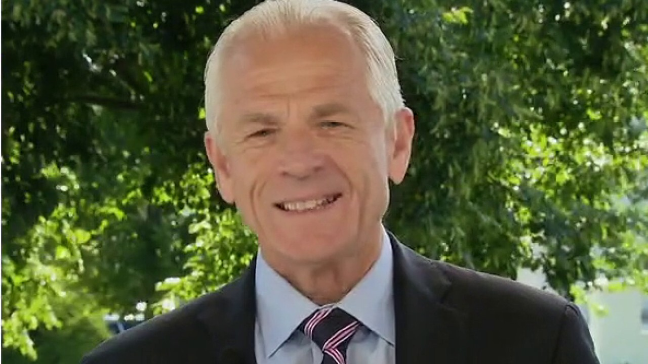 Assistant to the president for trade and manufacturing policy Peter Navarro accuses 2020 hopeful Joe Biden of 'blatantly ripping off' President Trump's economic agenda on 'Sunday Morning Futures.'