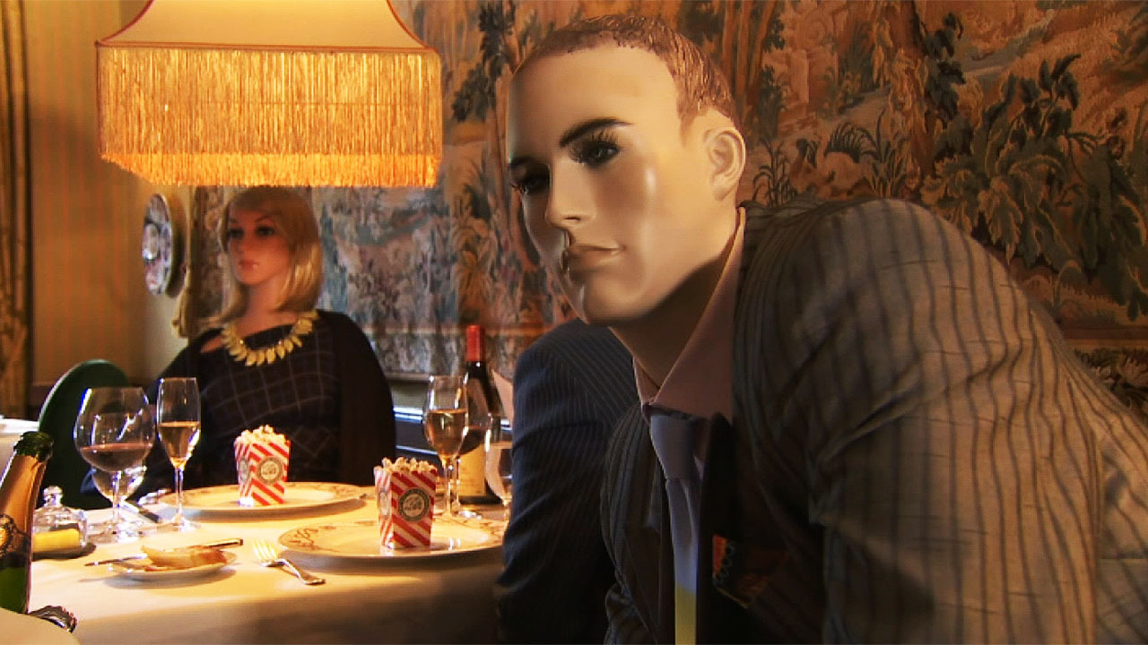 How would you feel eating dinner next to a mannequin?
