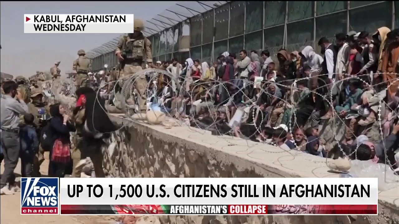 Conditions deteriorate at Kabul airport, Americans told to shelter in place