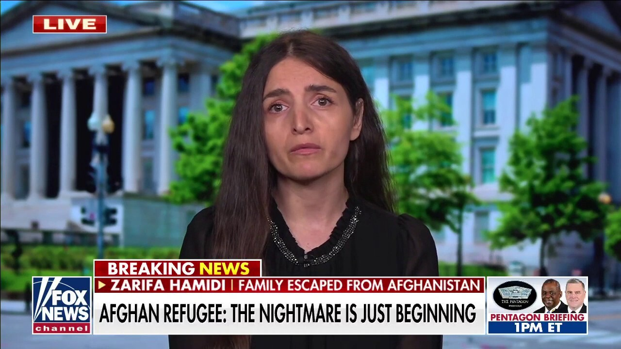Afghan refugee who fled with her family calls on Biden to 'make sure' the Taliban maintain women's rights